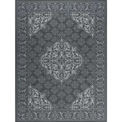 Majesty Charcoal 6 ft. 7 in. x 9 ft. 6 in. Traditional Area Rug