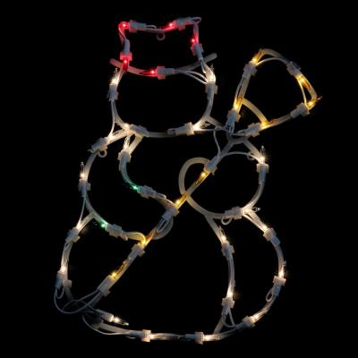 15 in. Lighted Snowman Christmas Window Silhouette Decoration