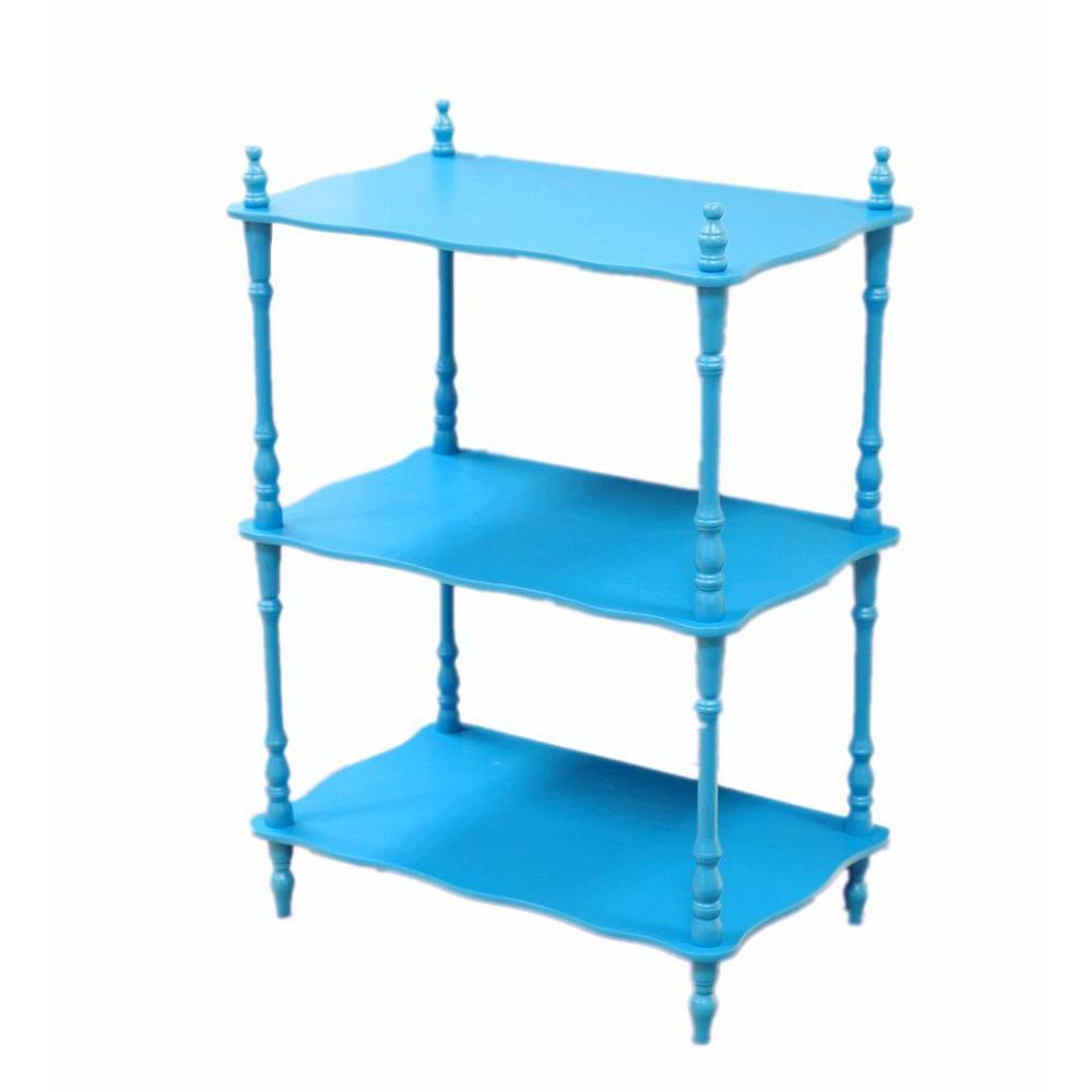11.82 in. W x 18.91 in. D x 27.78 in. H Kids Shelves in Blue