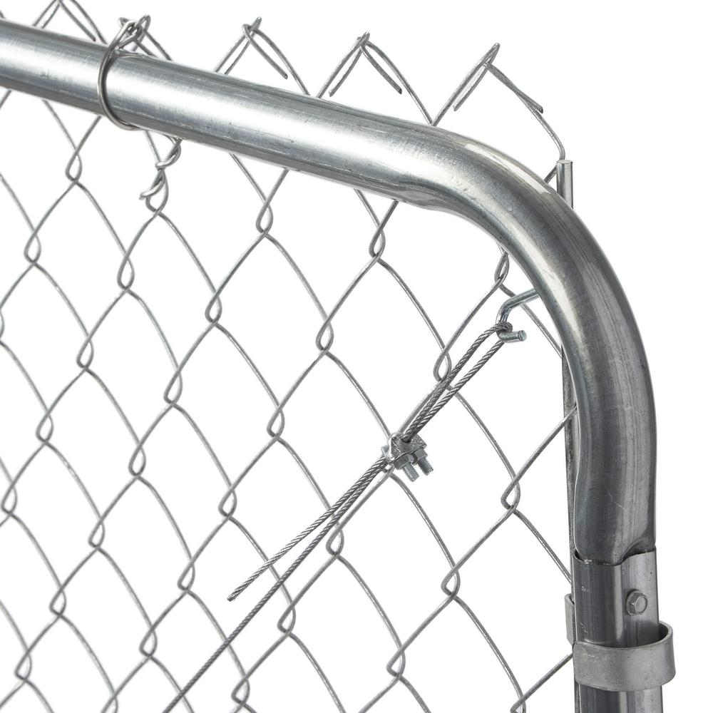 YARDGARD 6 ft. W x 5 ft. H Galvanized Metal Adjustable Single Walk ...