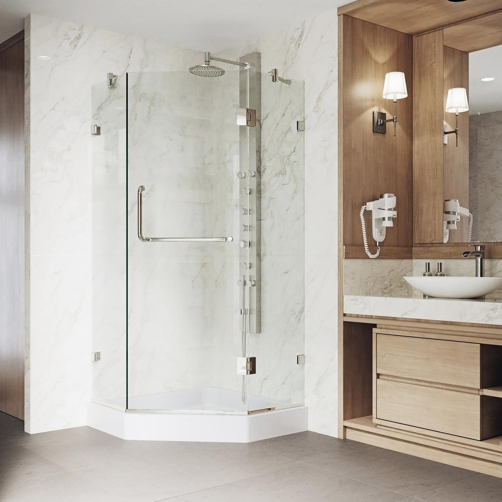 VIGO Piedmont 36.125 in. x 78.75 in. Frameless Neo-Angle Shower ...