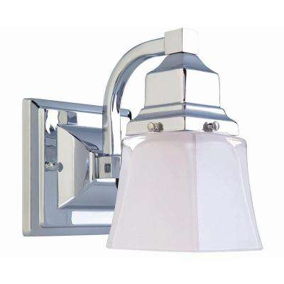 1-Light Chrome Bath Light