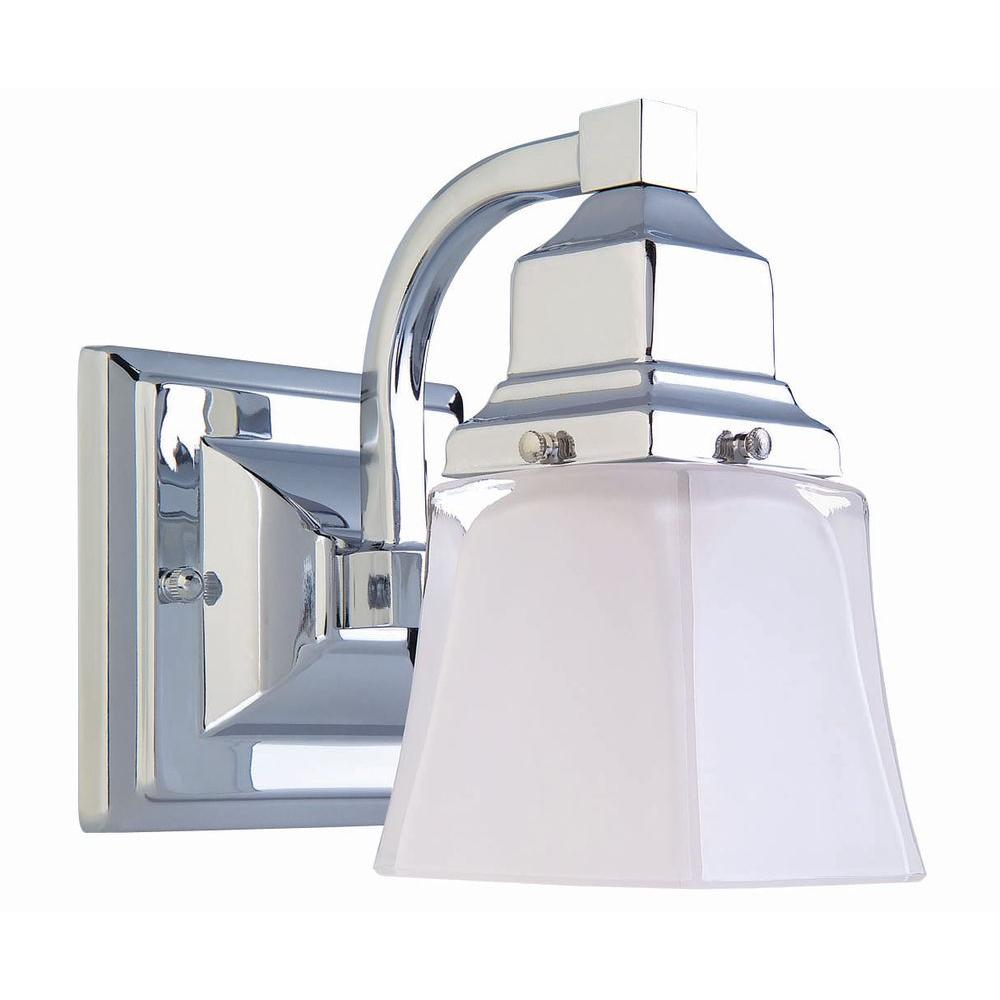 Bathroom Light Fixtures In Canada: Hampton Bay 1-Light Chrome Bath Light-05658