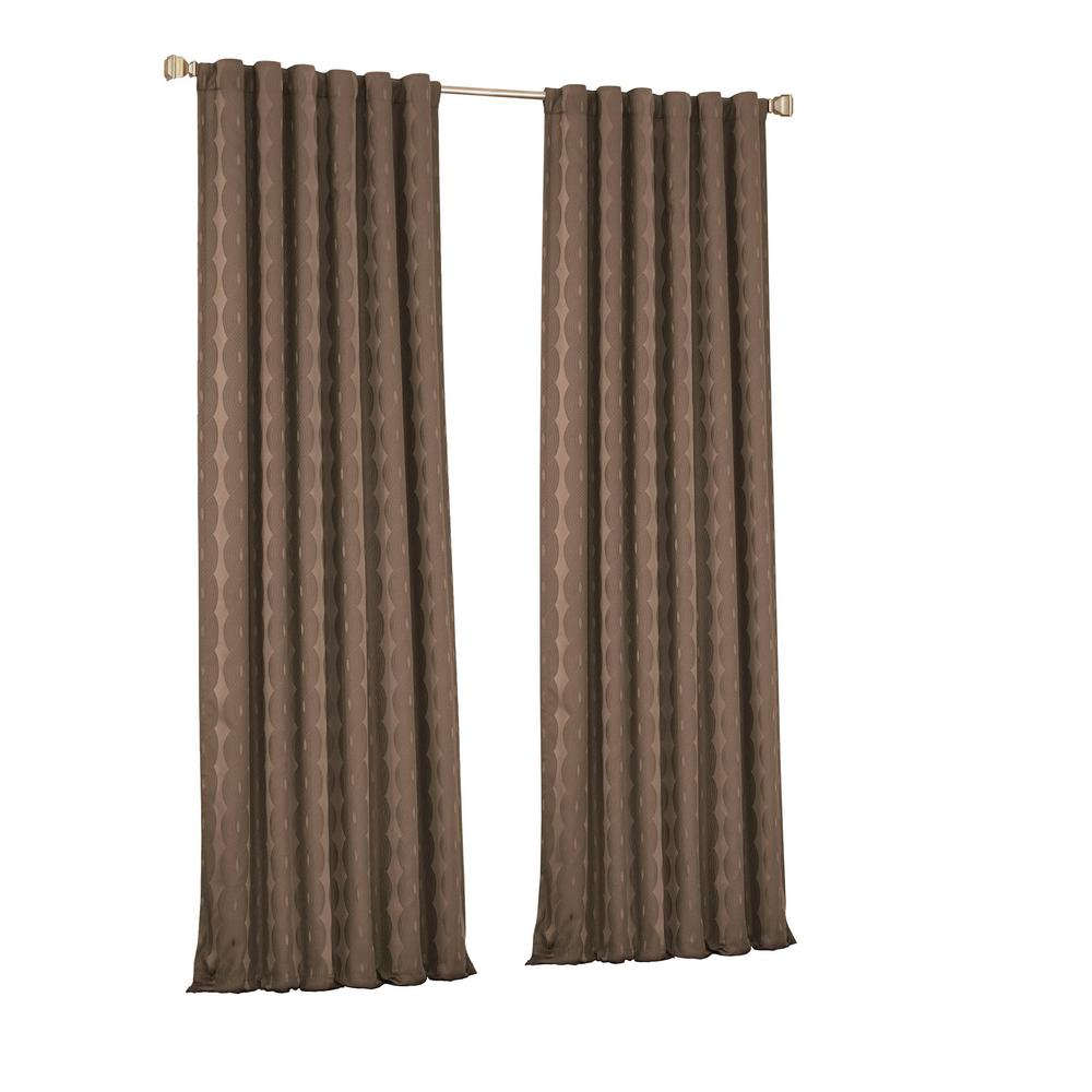 Eclipse Adalyn Blackout Window Curtain Panel in Dark Mushroom - 52 in. W x 95 in. L