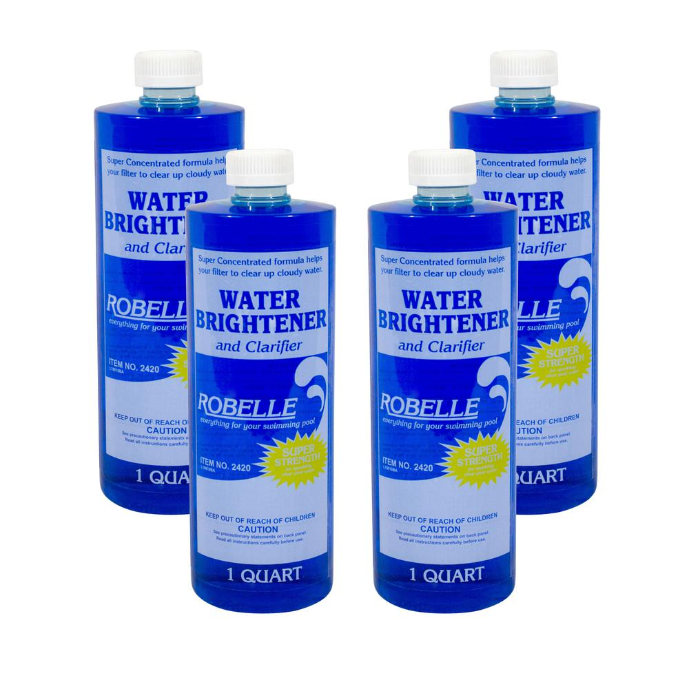 Robelle 1 Qt Pool Water Brightener And Clarifier 4 Pack