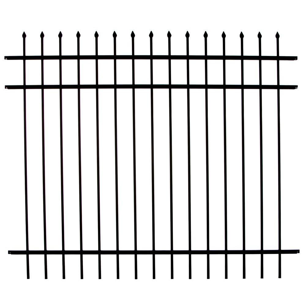 DIY Universal Fence Meriden 4 ft. H x 6 ft. W Aluminum Fence Panel