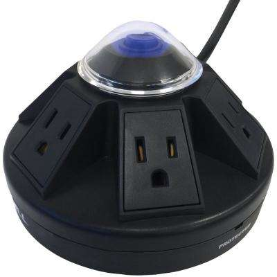 Powramid 6-Outlet Power Center and Surge Protector