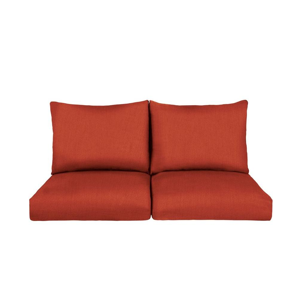 Marquis Replacement Outdoor Loveseat Cushion in Cinnabar