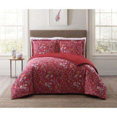 Bedford Red Multi Full and Queen XL Comforter Set