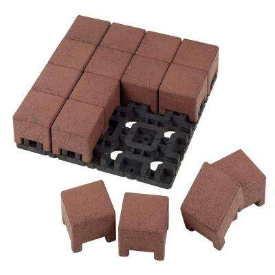 4 in. x 4 in. Village Composite Standard Paver Grid System (16 Pavers and 1 Grid)