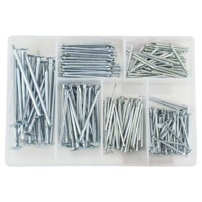 Zinc-Plated Wire Nail and Brad Assortment (276-Pack)