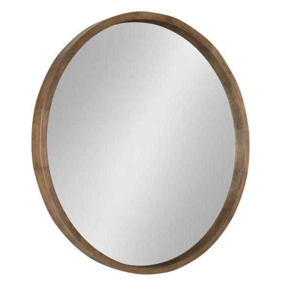 Hutton Round Rustic Brown Mirror