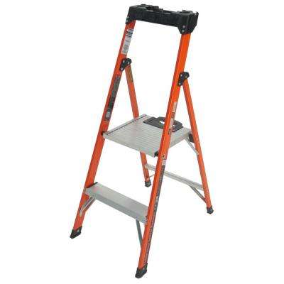 Quick-N-Lite 4 ft. Fiberglass Step Ladder Type I 250 lbs. Rated