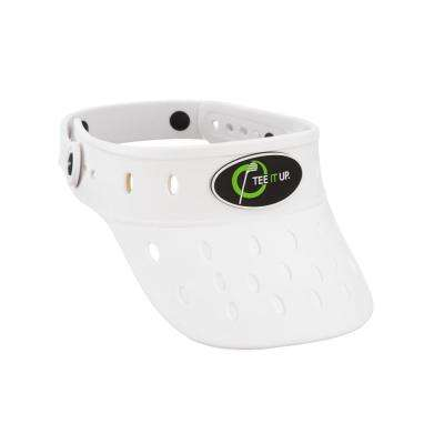 Protactive White Foam Hat Visor Plastic Button Adjustable Lightweight Durable Anti Mold Removable Rubber Logo Float