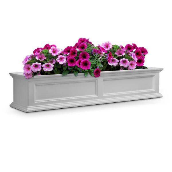 60 in. x 11 in. White Plastic Window Box