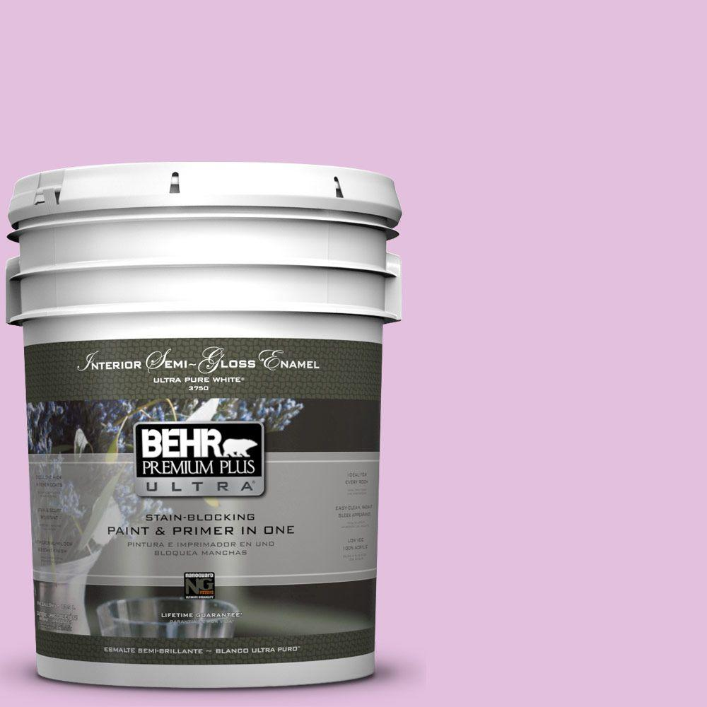 BEHR Premium Plus Ultra 5-gal. #P110-2 Girl Talk Semi-Gloss Enamel Interior Paint