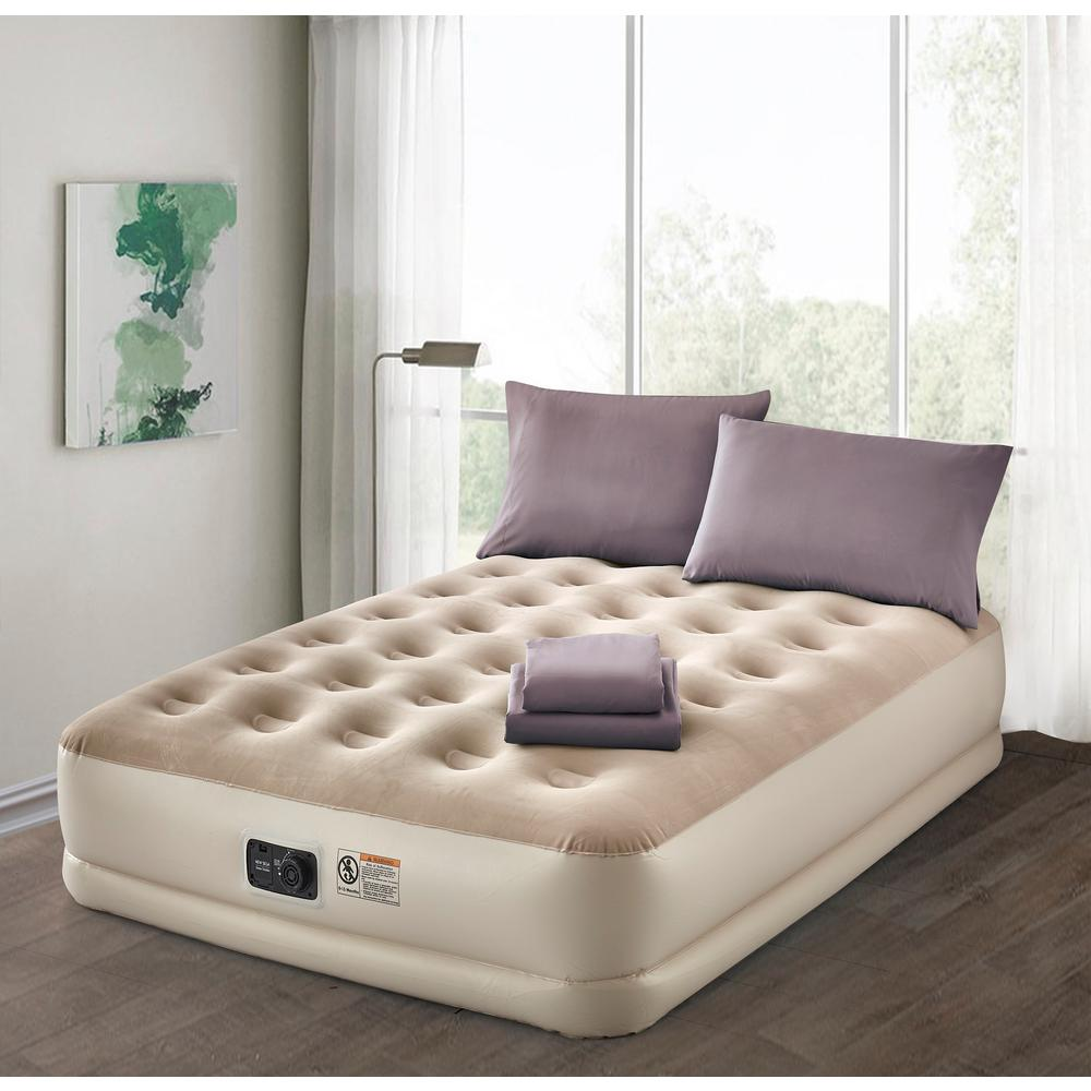 fdbced75aa4a6 Twin Air Mattress with Complete Lavender Bedding Set