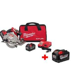 Milwaukee M18 FUEL 18-Volt Lithium-Ion Brushless 7-1/4 inch Cordless Circular Saw High Demand 9.0Ah Kit with... by Milwaukee