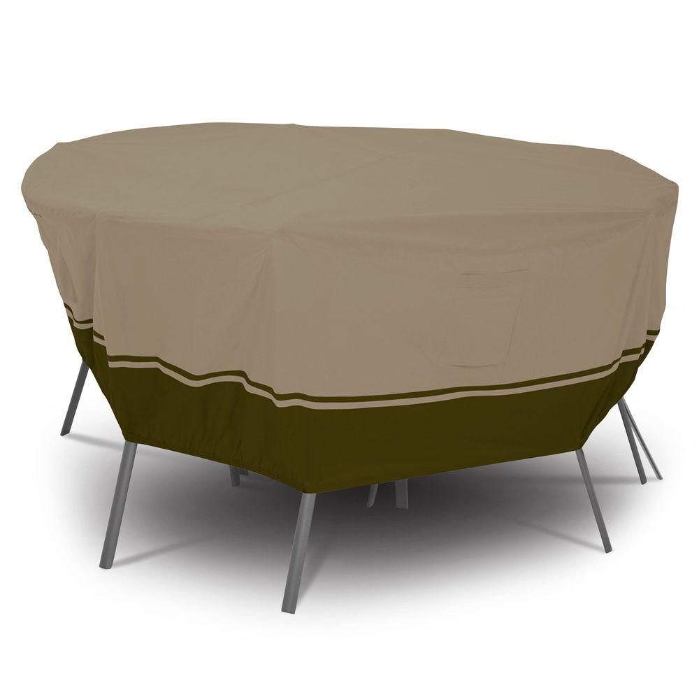 Classic Accessories Villa Medium Round Patio Table and Chair Set Cover-DISCONTINUED