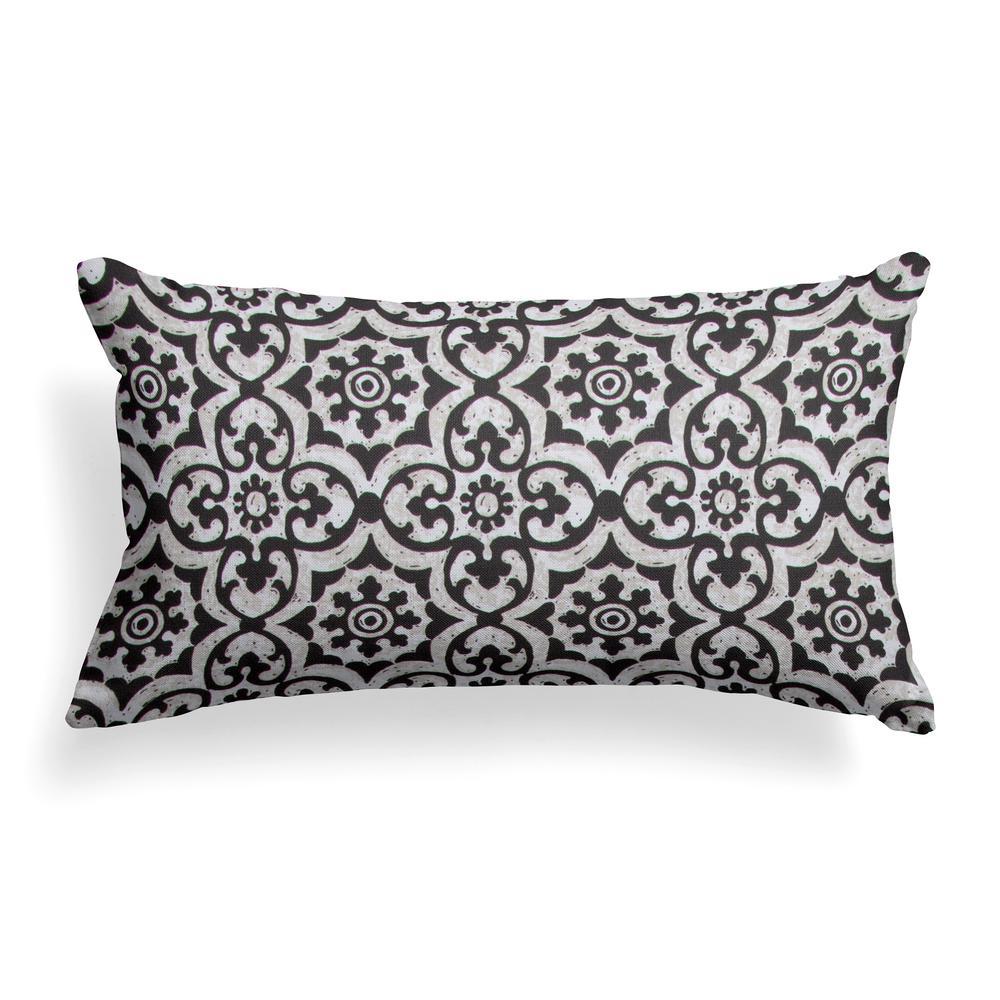 Barcelona Lumbar Outdoor Throw Pillow