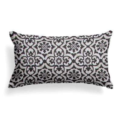 Barcelona Lumbar Outdoor Throw Pillow