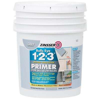 Bulls Eye 1-2-3 630 oz. Water-Based Interior/Exterior Gray Primer and Sealer