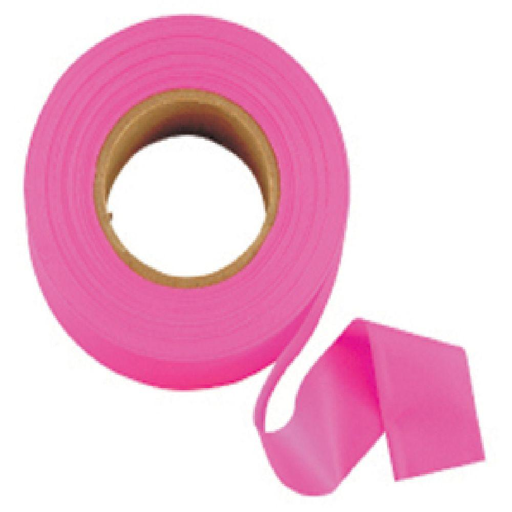 Johnson 1 in. x 200 ft. Glo-Pink Flagging Tape