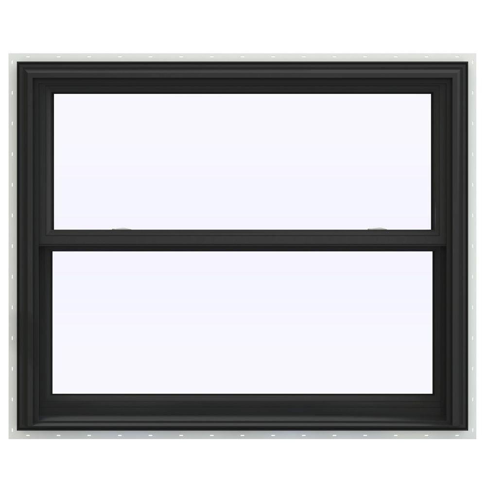 JELD-WEN 43.5 in. x 35.5 in. V-2500 Series Double Hung Vinyl Window - Bronze
