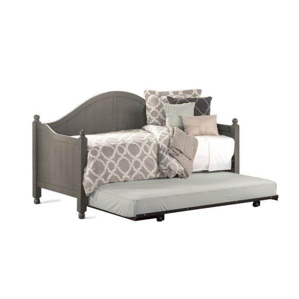 Hillsdale Furniture Augusta Stone Daybed with Suspension Deck and Roll-Out Trundle