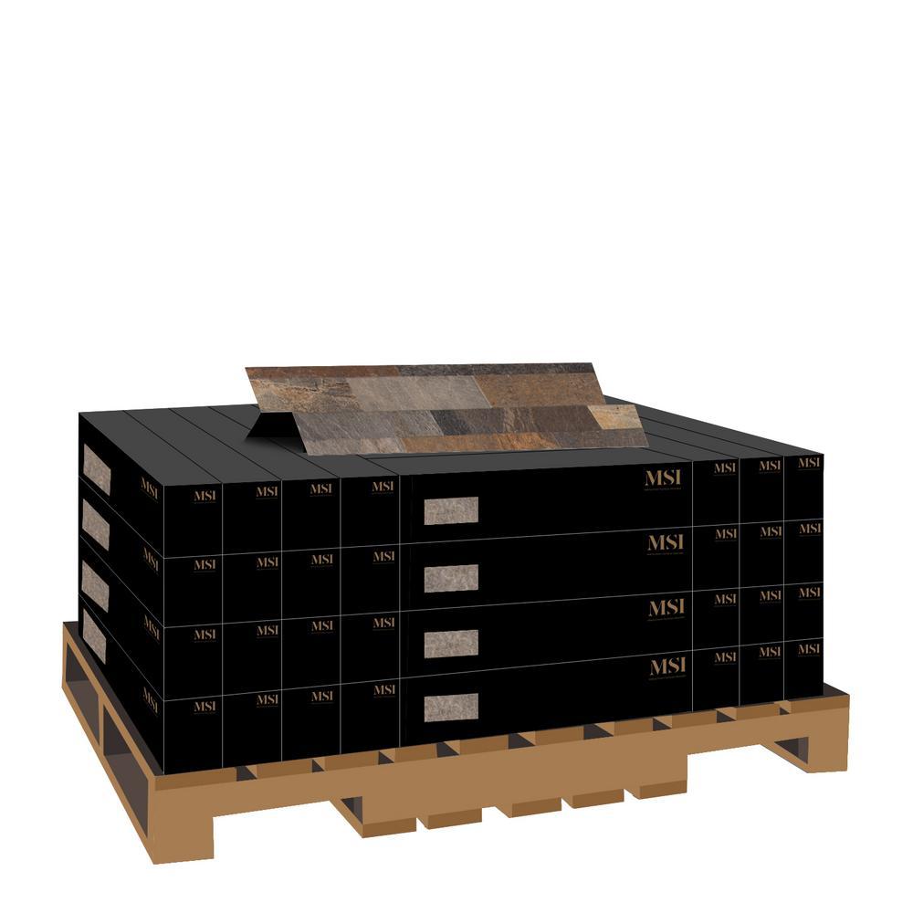 Rocky Gold Ledger Panel 6 in. x 24 in. Glazed Porcelain Wall Tile (11 sq. ft. / case)