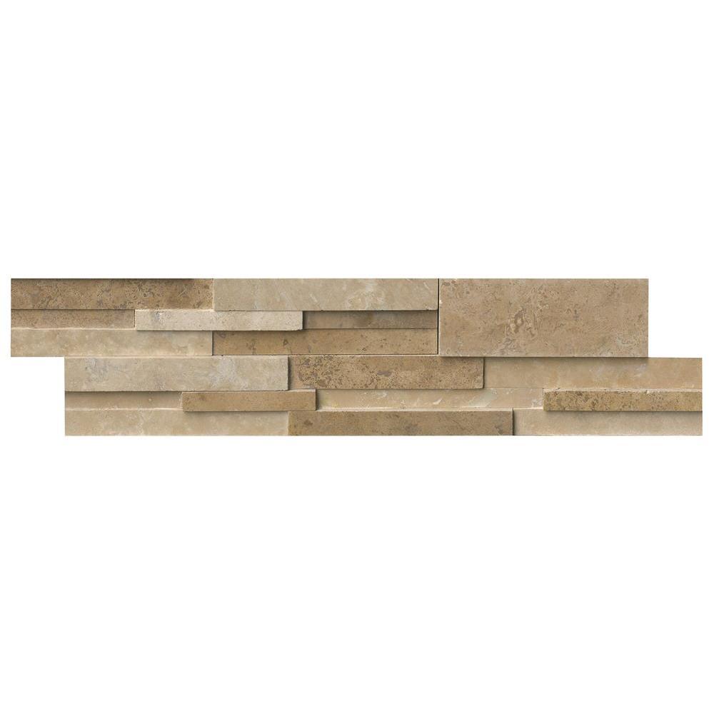 Msi Casa Blend 3D Ledger Panel 6 in. x 24 in. Honed Natur...