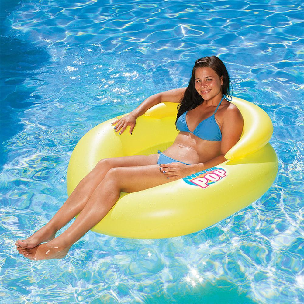 Poolmaster Water Pop Yellow Pool Mesh Lounge