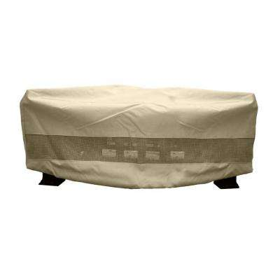 380G Polyester Square Patio Fire Pit Cover with PVC Coating