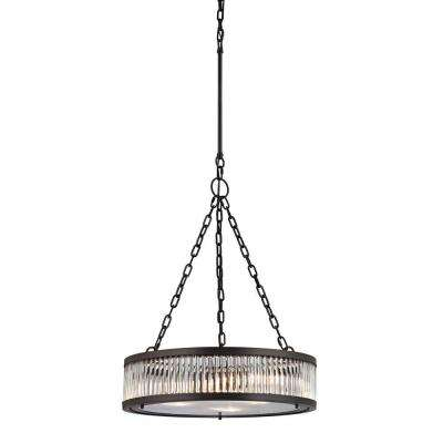 Munsey Park Collection 3-Light Oil-Rubbed Bronze Pendant