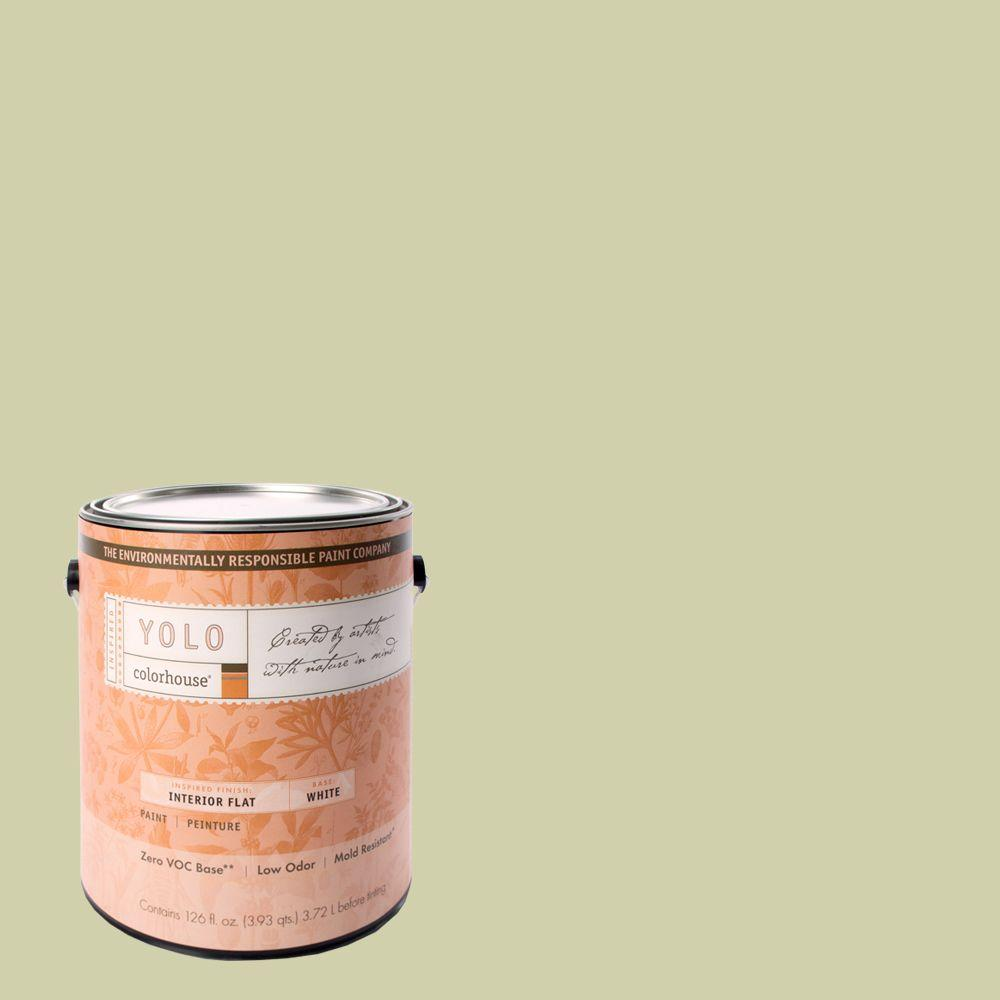 YOLO Colorhouse 1-gal. Leaf .01 Flat Interior Paint-DISCONTINUED