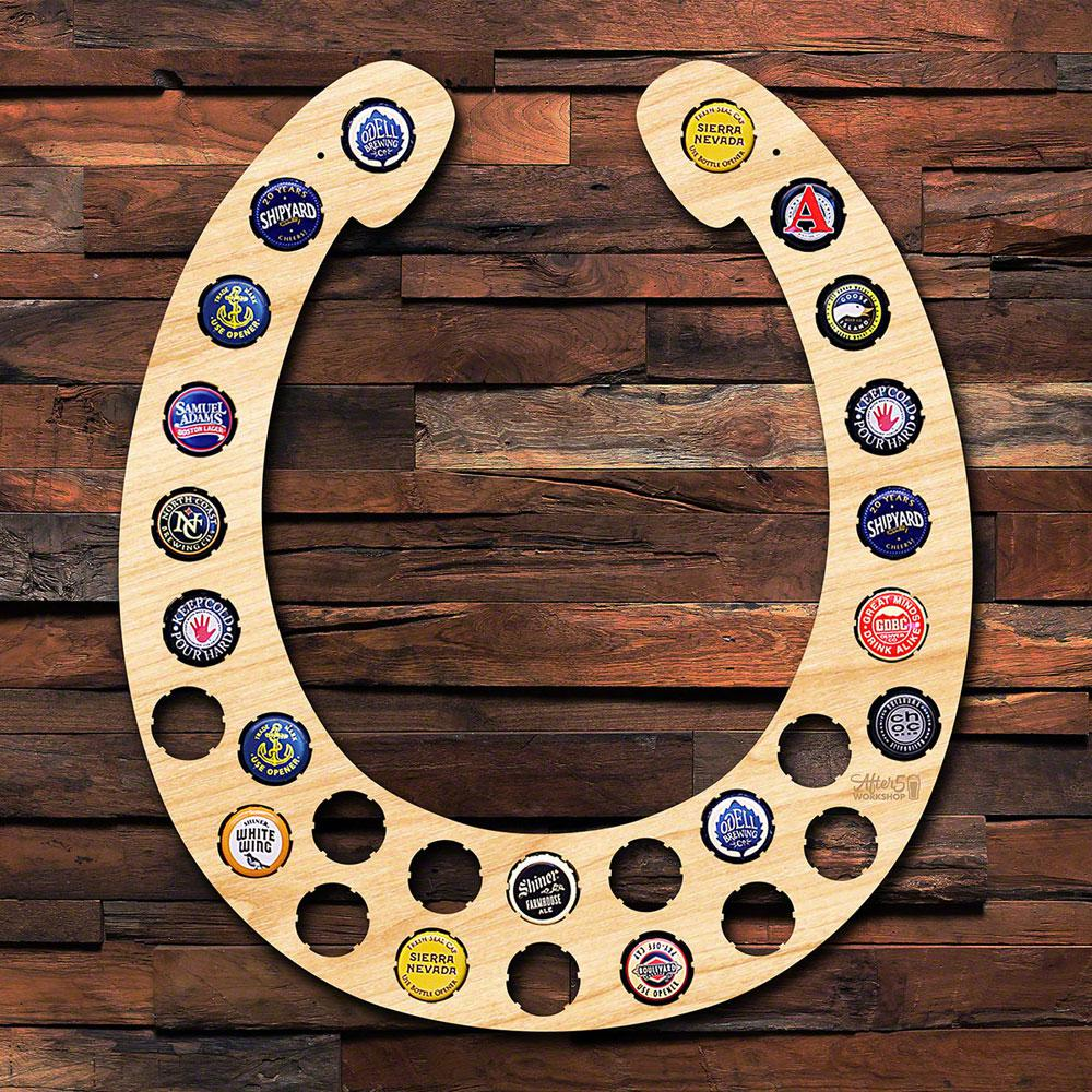 After 5 Work Horseshoe Beer Cap Holder Wall Decor