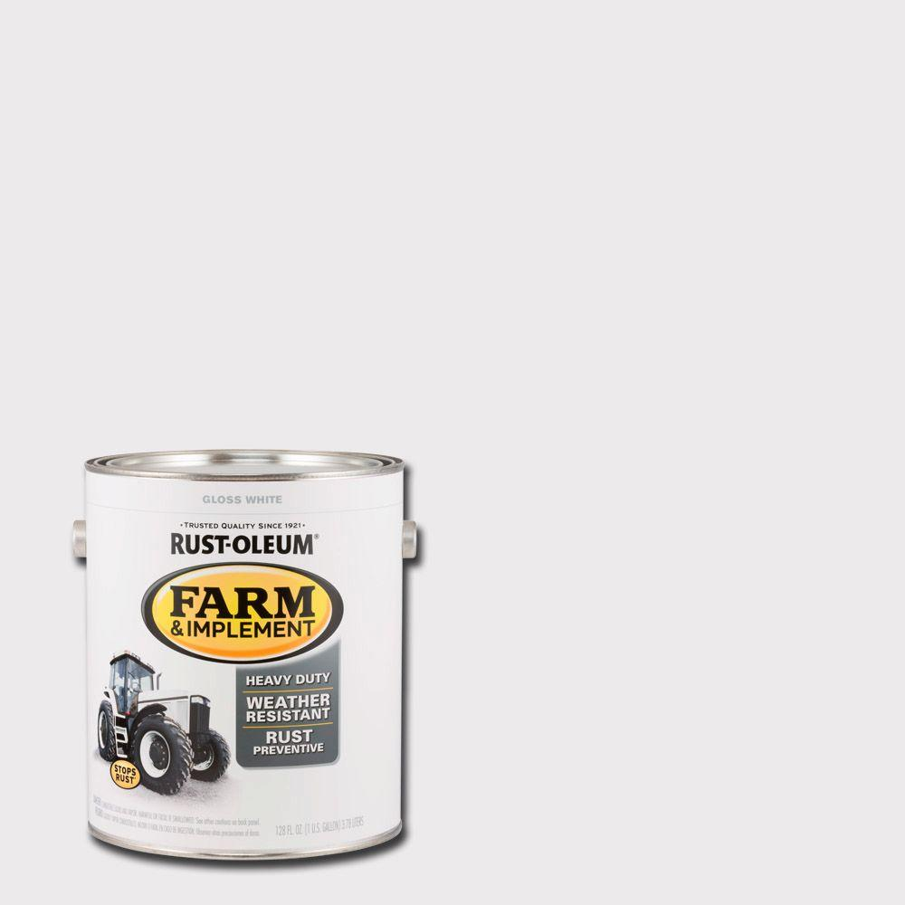 1 gal. Farm and Implement Gloss White Paint (Case of 2)