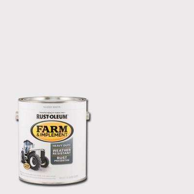 1 gal. Farm & Implement Gloss White Enamel Paint (2-Pack)