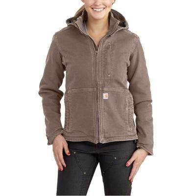 Women's Medium Taupe Gray/Shadow Sandstone Full Swing Caldwell Duck Jacket