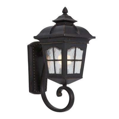 Amelia Collection 1-Light Oil-Rubbed Bronze Outdoor Wall Mount Lamp