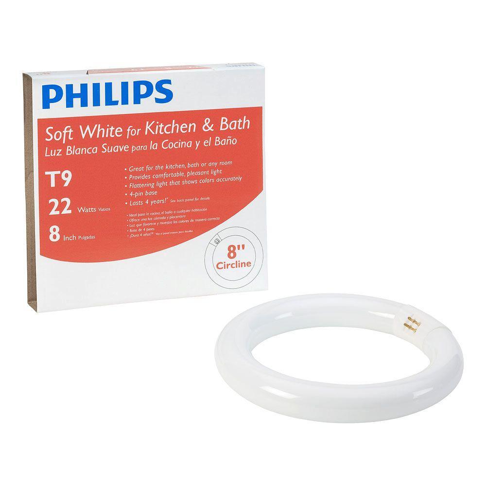 Philips 8 in. T9 22-Watt Soft White Circline Linear Fluorescent Light Bulb (12-Pack)