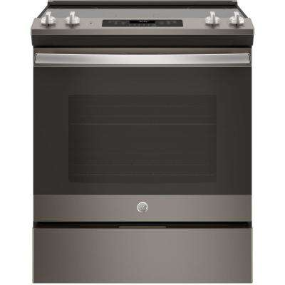 5.3 cu .ft. Slide-In Electric Range with Self-Cleaning Oven in Slate, Fingerprint Resistant