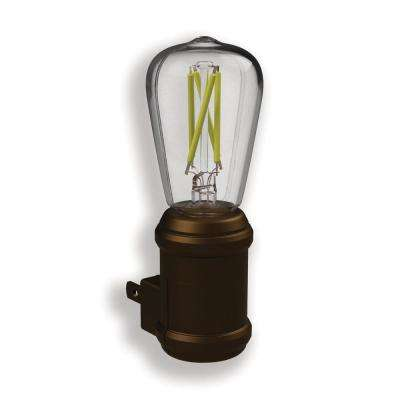 Aged Bronze Automatic Vintage Edison LED Night Light