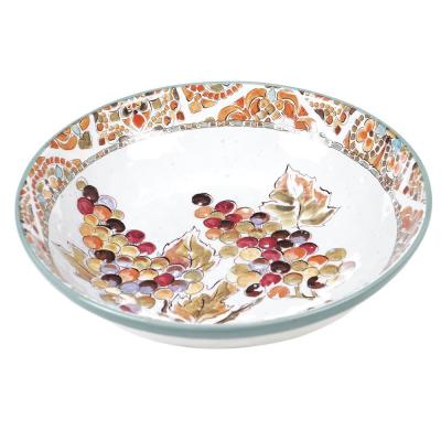Multi-Colored 144 oz. Tuscan Breeze Serving Bowl