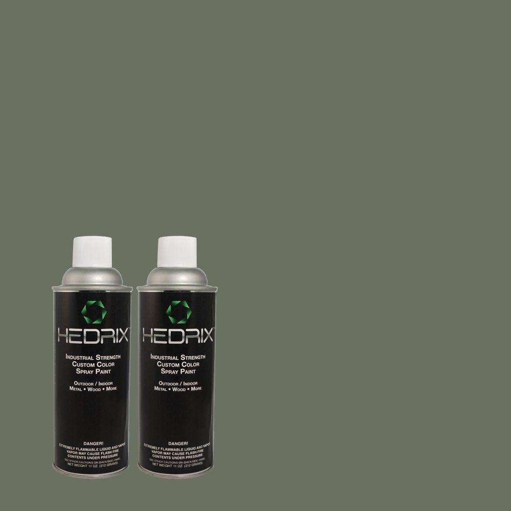 Hedrix 11 oz. Match of 490F-6 Agave Frond Gloss Custom Spray Paint (2-Pack)