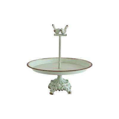 13 in. Pedestal with Birds Jewelry Holder