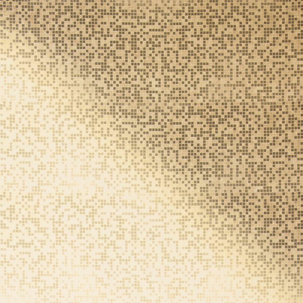 Kenneth James Cosimo Brass Foil Mosaic Wallpaper 2542-20757 - The Home Depot