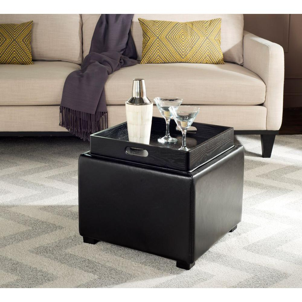 Bobbi Black Storage Ottoman