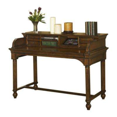 Winsome Burnt Sienna Smart Top Writing Desk