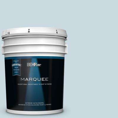 5 gal. #MQ3-53 Sky Light View Satin Enamel Exterior Paint and Primer in One